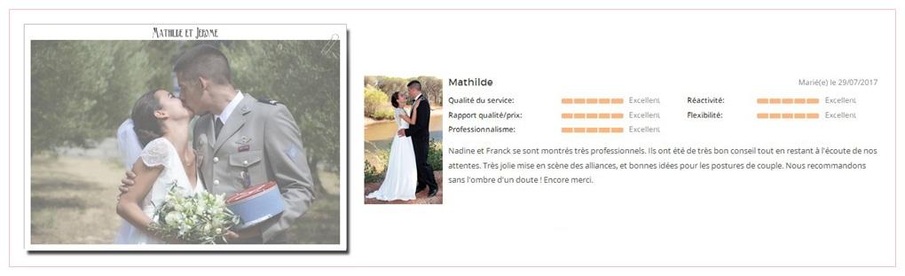 mariage mathilde et jerome